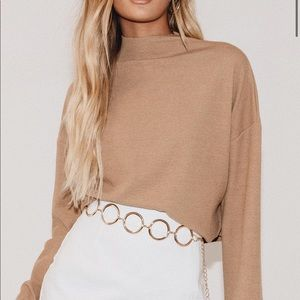 Princess Polly TWIIN revive funnel neck top NWT